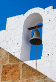 Old bell. Bell on a church. Lindos town. Rhodes island. Greece Stock Photos