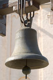 Old bell. Old church bell near ancient church royalty free stock photo
