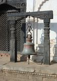 Old bell in ancient city of Bhaktapur,Nepal Stock Images