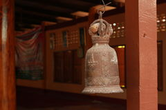 Old bell. Old bell in Buddhism temple, Thailand Royalty Free Stock Photo