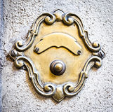 Old bell button. At a villa in rome Royalty Free Stock Images