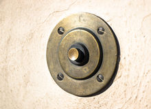 Old bell button Stock Images