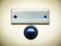 Old bell button and nameplate. At a villa near rome Royalty Free Stock Images