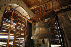 An old bell in a church tower Royalty Free Stock Photo