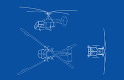 Old Bell Helicopter Royalty Free Stock Photo