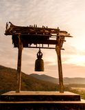 Old bell hung in a Buddhist temple Stock Photo