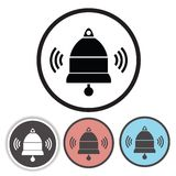 Old bell icons Stock Images