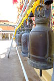 The old bell in thai temple Royalty Free Stock Photo