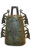 Old bell. Bell with tiger-shaped halberd decoration,Late western Zhou Dynasty in Chinese History stock image