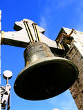 Old bell tower. Old church bell on tower Royalty Free Stock Photos