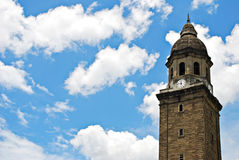 Old Bell Tower or Belfry on a Blue Sky Stock Images
