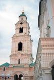 Old bell tower. Entrance to Astrakhan Kremlin stock images