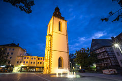 Old bell tower giessen germany in the evening. An old bell tower giessen germany in the evening royalty free stock image
