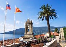Old bell tower in Herceg Novi, Montenegro Royalty Free Stock Images