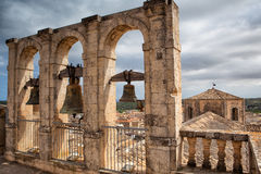 Old bell tower in Noto Stock Photography