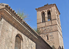 Bell tower in Toledo. Old bell tower in Toledo, Spain Royalty Free Stock Image