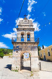 Old bell tower in traditional greek village on the island of Zak Royalty Free Stock Image