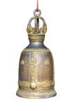 Old bell on white background (isolated) Royalty Free Stock Photo