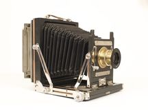Old bellows camera Stock Images