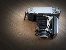 An Old Bellows Film Camera Stock Photo