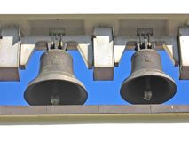 Old bells 2. Church � two old bells royalty free stock photo