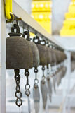Old bells. In somewhere temple Royalty Free Stock Photography