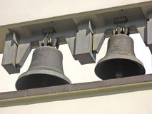 Old bells. Church - two old bells royalty free stock photos
