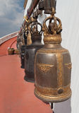 Old bells on the Golden mountain temple in Bangkok Royalty Free Stock Image