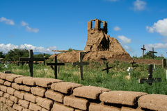 Old belltower from San Geronimo Chapel in Taos Pueblo Royalty Free Stock Photos