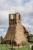 Old belltower from San Geronimo Chapel in Taos Pueblo, USA Royalty Free Stock Photos