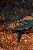 Old  bench in the autumn park Royalty Free Stock Image