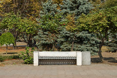 Old bench in a park. Royalty Free Stock Photos