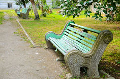 Old Bench in a Park Royalty Free Stock Images