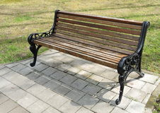 Old bench in park , Lithuania Stock Photos