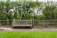 Old bench in a park Royalty Free Stock Photo