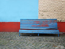 Old bench on the street. Of buenos aires stock image