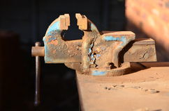 Old bench vice Royalty Free Stock Images