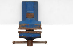 Old bench vice on white background Stock Image