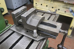 Old Bench Vise royalty free stock photos
