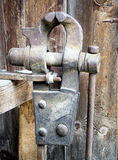 Old bench vise Royalty Free Stock Photography