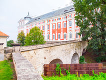 Old benedictine monastery in Broumov, Czech Republic Stock Photo