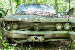 Old Bent Chrysler Royalty Free Stock Images