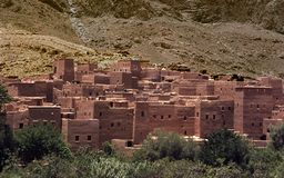 Old berber architecture in the mountains royalty free stock photos