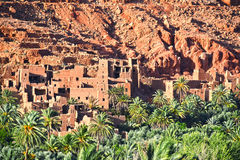 Old berber architecture near the city of Tinghir in Atlas Mount. Stock Images