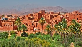 Old berber architecture near the city of Tinghir, Morocco. Old berber architecture near the city of Tinghir in Atlas Mountains region in Morocco royalty free stock photography