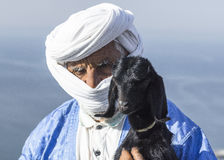 Old Berber portrait. Stock Image