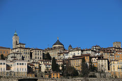 Old Bergamo, Italy. Panorama of old Bergamo, Italy Royalty Free Stock Images
