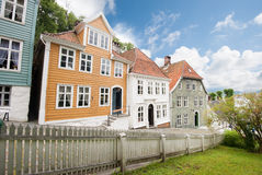 Old Bergen. The old town of Bergen city in Norway Stock Images