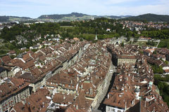 Overlooking part of old centre of the city of Bern, Switzerland Stock Photos