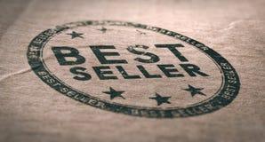 Old Best Seller Label Over Brown Paper Background vector illustration
